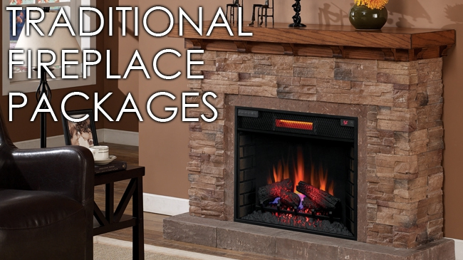 Traditional Fireplace and Mantel Packages