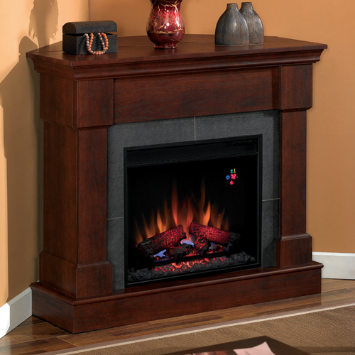 Brown Fireplace Mantel : Electric fireplaces and mantels
