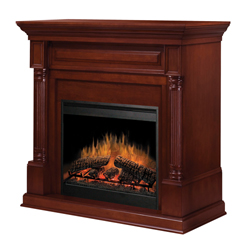 "Timothy 30"" Wall Mantel and Fireplace, Burnished Walnut - Dimplex"