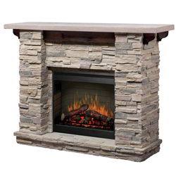 "Featherston 26"" Wall Mantel and Fireplace, Ledge Rock - Dimplex"