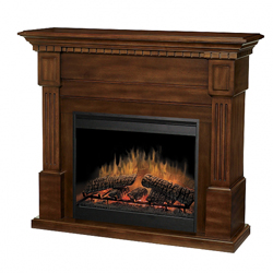 "Essex 30"" Wall Mantel and Fireplace, Burnished Walnut - Dimplex"