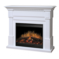 "Essex 30"" Wall Mantel and Fireplace, White - Dimplex"