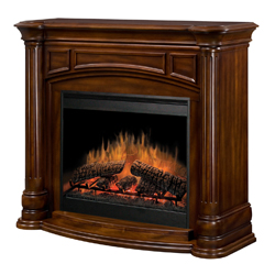 "Belvedere 30"" Wall Mantel and Fireplace, Burnished Walnut - Dimplex"