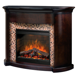 "Martindale 30"" Wall Mantel and Fireplace, Tile and Espresso - Dimplex"