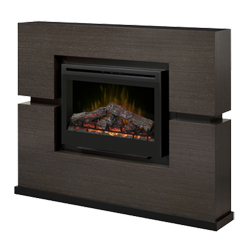 "Linwood 33"" Wall Mantel and Fireplace, Rift Grey - Dimplex"