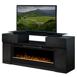 "Concord Media Console, 50"" Linear Electric Fireplace - Dimplex"