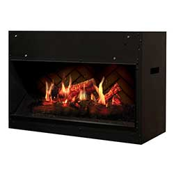 "30"" Opti-V Solo Linear Electric Fireplace, Remote - Dimplex"