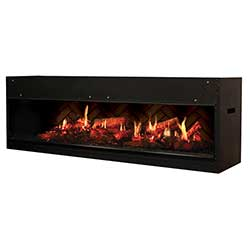 "54"" Opti-V Duet Linear Electric Fireplace, Remote - Dimplex"