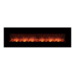 "100"" Ambiance CLX Electric Fireplace, Black Glass Surround - Modern Flames"