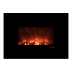 "40"" Ambiance CLX Electric Fireplace, Black Glass Surround - Modern Flames"