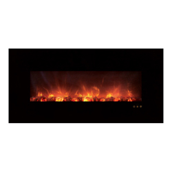 "60"" Ambiance CLX Electric Fireplace, Black Glass Surround - Modern Flames"