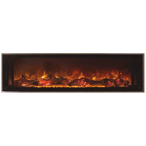 "100"" Landscape Full View Electric Fireplace, Built-In Clean Face - Modern Flames"