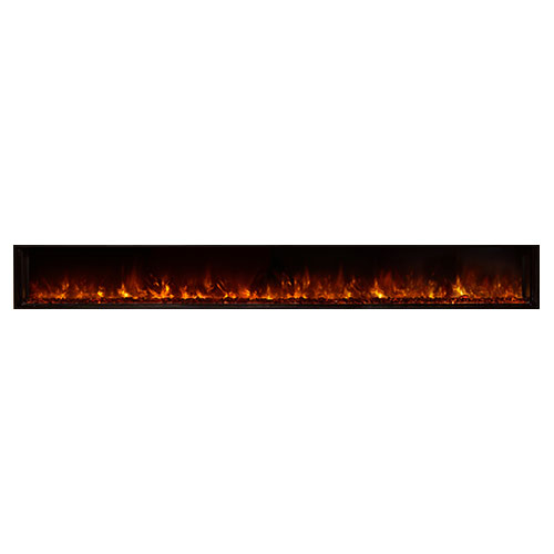 "120"" Landscape Full View Electric Fireplace, Built-In Clean Face - Modern Flames"