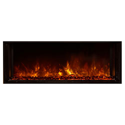 "40"" Landscape Full View Electric Fireplace, Built-In Clean Face - Modern Flames"