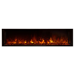 "60"" Landscape Full View Electric Fireplace, Built-In Clean Face - Modern Flames"
