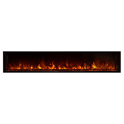 "80"" Landscape Full View Electric Fireplace, Built-In Clean Face - Modern Flames"