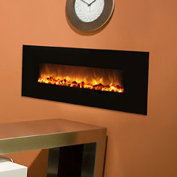 40 Slim Fire Electric Fireplace No Heat Model Black Gl Surround Modern Flames